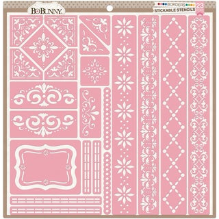 "BoBunny Stickable Stencil 12""X12""-Borders"