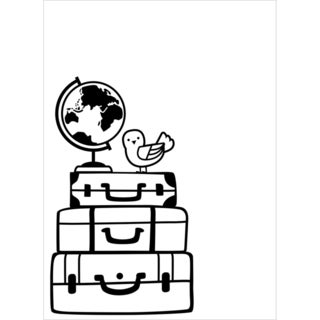 "Embossing Folder 4.25""X5.75""-Stacked Luggage"