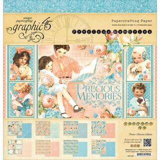 """Graphic 45 Paper Pad 12""""X12"""" 24/Pkg-Precious Memories"""