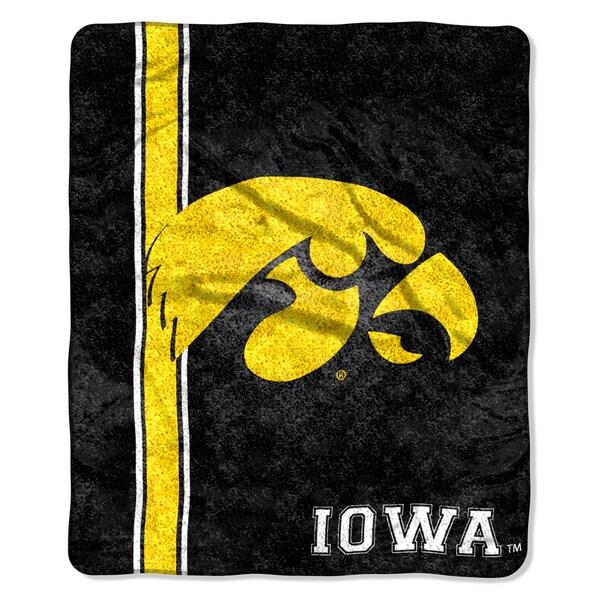 Iowa Sherpa Throw Blanket