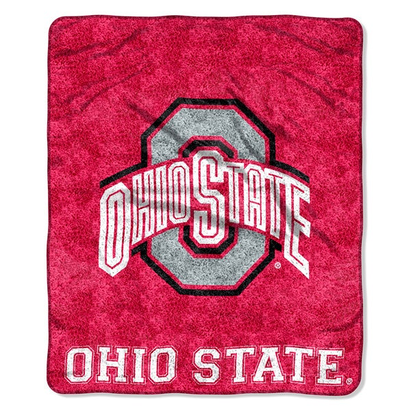 Ohio State Sherpa Throw Blanket