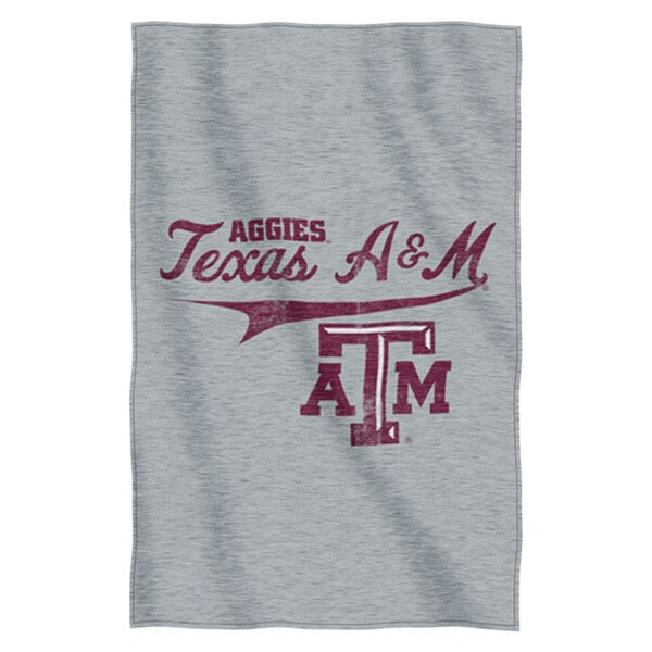 Texas A&M Sweatshirt Throw Blanket
