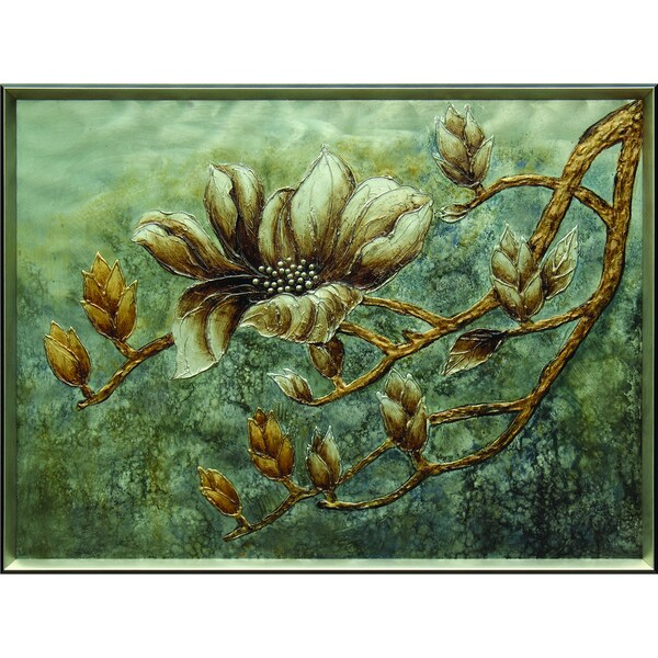 Cream Flower with Branches Original Hand painted Wall Art