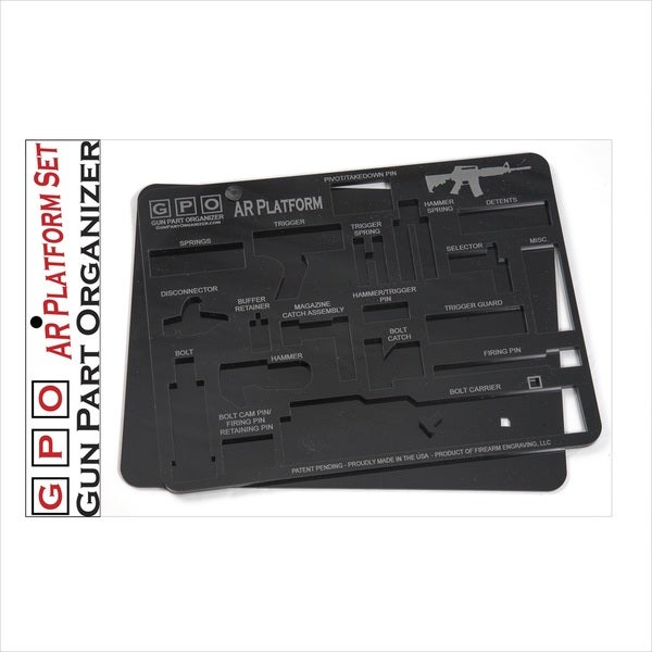 AR Gun Part Organizer, Black