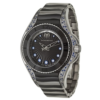 TechnoMarine Women's Blue Manta Stainless Steel Diamond Swiss Quartz Watch