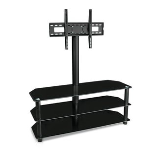 Mount-it! 32 to 55-inch Glass/ Aluminum Flat Panel TV Mount Entertainment Center