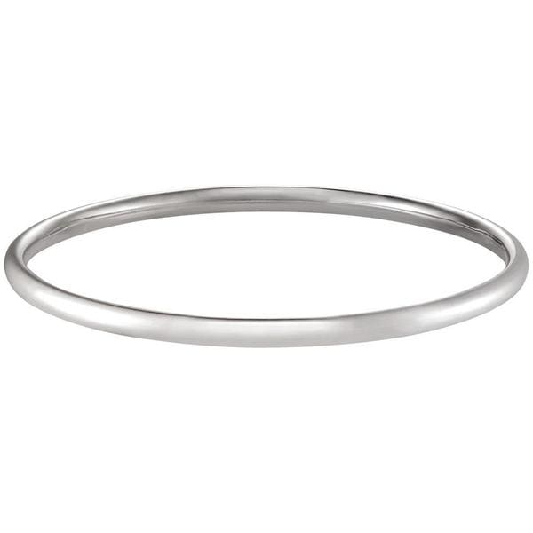 Forever Last 10k White Gold Traditional Bangle Bracelet