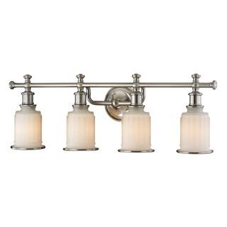 Acadia 4-light Brushed Nickel Bath Fixture