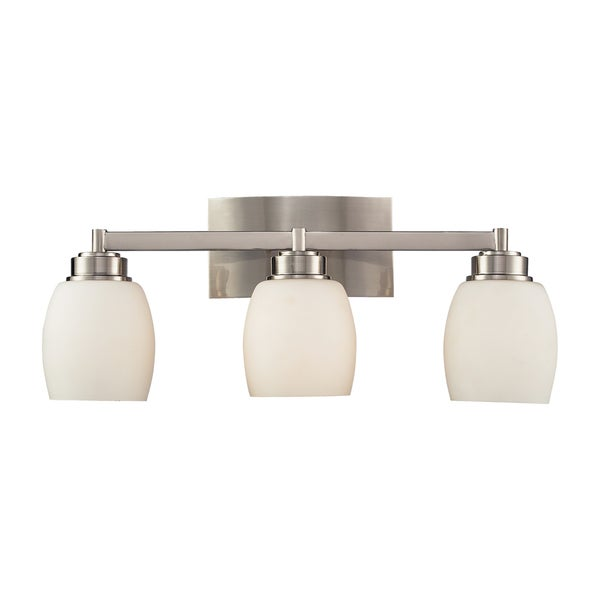 Northport 3-Light Satin Nickel Vanity
