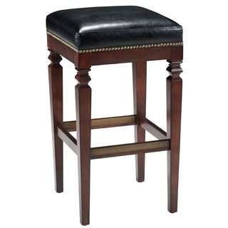 D-Art Avery Leather-seat Bar-height Counter Stool (Indonesia)