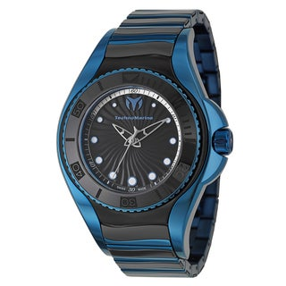 TechnoMarine Women's 'Blue Manta' Stainless Steel Blue Swiss Quartz Watch