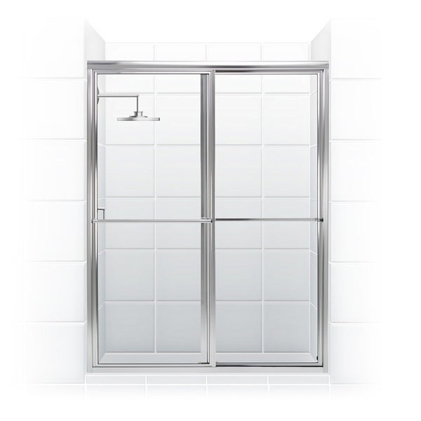 newport series 46 x 70 inch framed sliding shower door