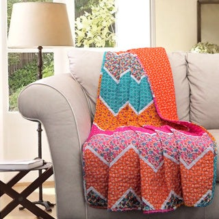 Lush Decor Everlyn Chevron Throw Blanket