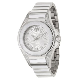 TechnoMarine Women's 'Blue Manta' Stainless Steel and Diamonds Swiss Quartz Watch