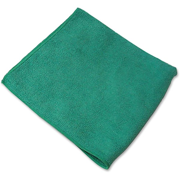 Genuine Joe General Purpose Green Microfiber Cloth (Pack of 12)