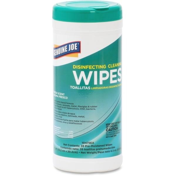 Genuine Joe White Disinfecting Cleaning Wipes