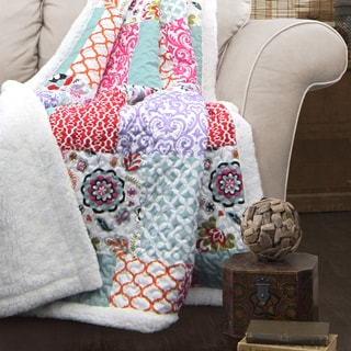 Lush Decor Brookdale Sherpa Throw Blanket