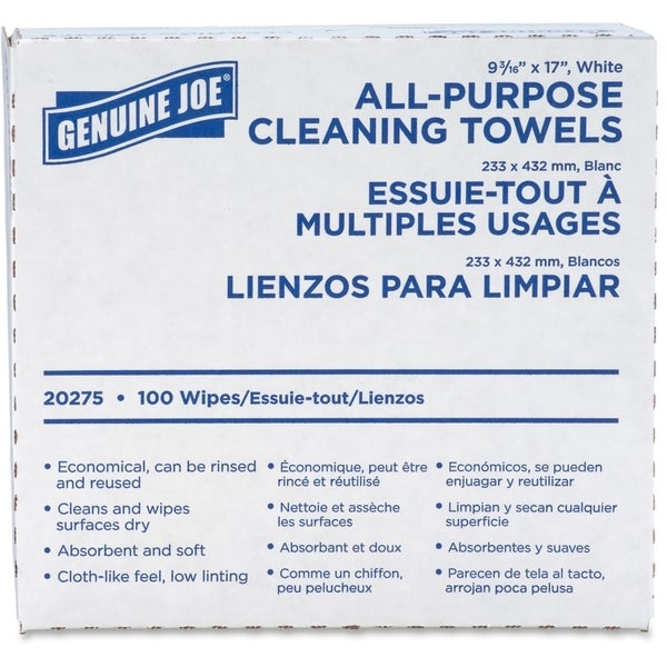 Genuine Joe All-purpose Cleaning Towels (Box of 100)