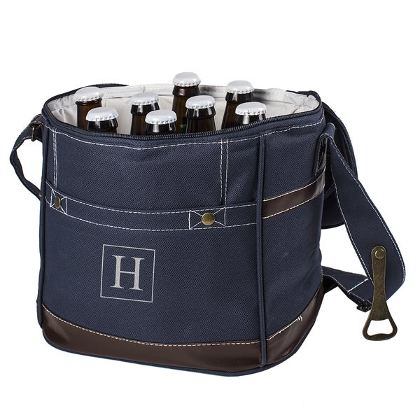 Personalized Navy 12 Pack Bottle Cooler With Opener