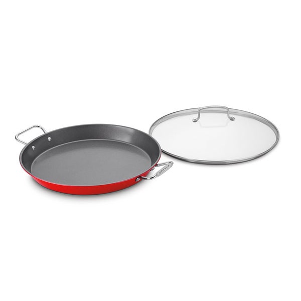 Non-Stick 15 Paella Pan with Glass Lid