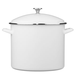 Chefs Classic Enamel-On-Steel 20 Quart Stockpot with Cover