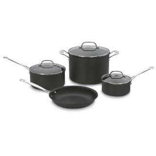 Cuisinart 66-7 Chefs Classic 7-Piece Non-Stick Hard Anodized Cookware Set + 8-inch Tongs And Measuring Cup Set