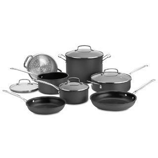 Cuisinart 66-11 Chef's Classic Nonstick Hard-Anodized 11-Piece Cookware Set with Not Your Mother's Weeknight Cooking Book