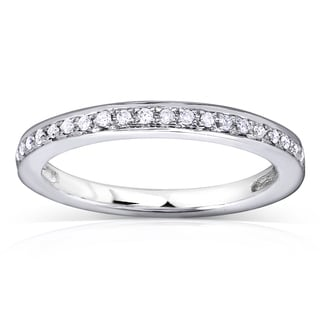 Annello 14k White Gold 1/8ct TDW Diamond Wedding Band (H-I, I1-I2)
