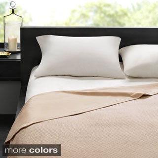 Madison Park Signature Two-in-One Cotton Sheet Blanket