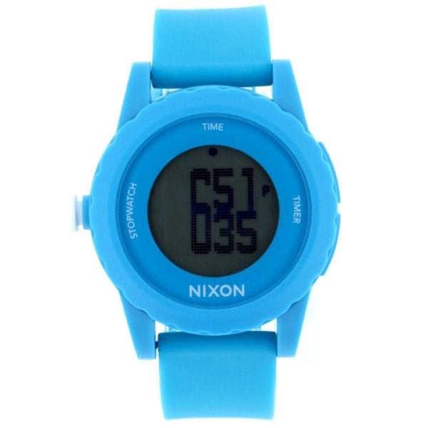 Nixon Men's A326-917 'Genie' Blue Silicone Watch