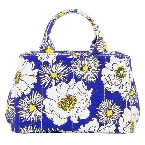 how to spot a fake prada - Prada Small Floral Print Canvas Tote - 17160717 - Overstock.com ...