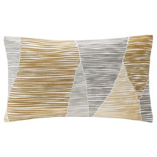 Ink+Ivy Bengal Embroidered Oblong Cotton Throw Pillow