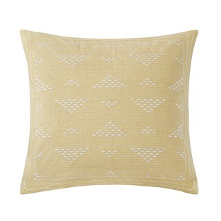 Ink+Ivy Cario Embroidered 18-inch Throw Pillow