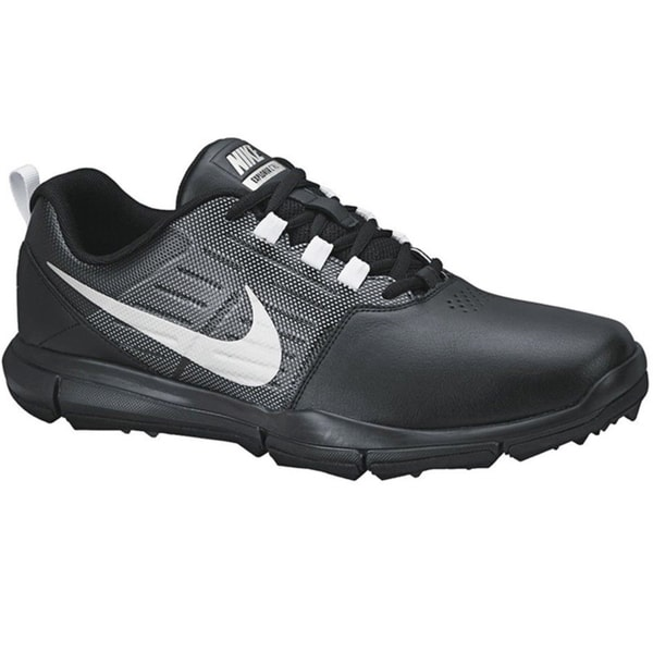 Nike Men's Explorer SL Black/Grey/Metallic Silver Golf Shoes