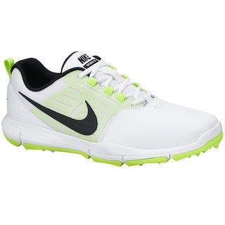 Nike Men's Explorer SL White/Volt/Black Golf Shoes