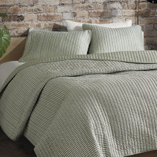 Madison Park ECO Weave Jared 3-piece Coverlet Set