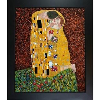 Gustav Klimt The Kiss Oil Painting (Full View) Hand Painted Framed Canvas Art