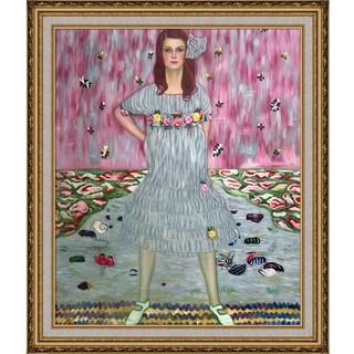 Gustav Klimt Portrait of Mada Primavesi Hand Painted Framed Canvas Art