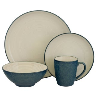 Sango Jewel Blue 16-piece Stoneware set