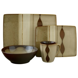 Sango Prelude Brown 16-piece Stoneware Set
