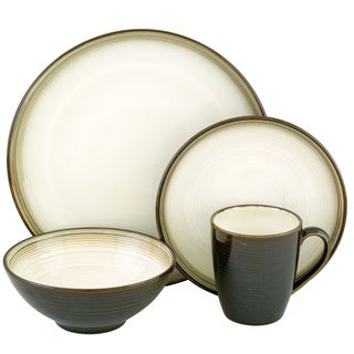 Sango Jetta Black 16-piece Dinnerware Set