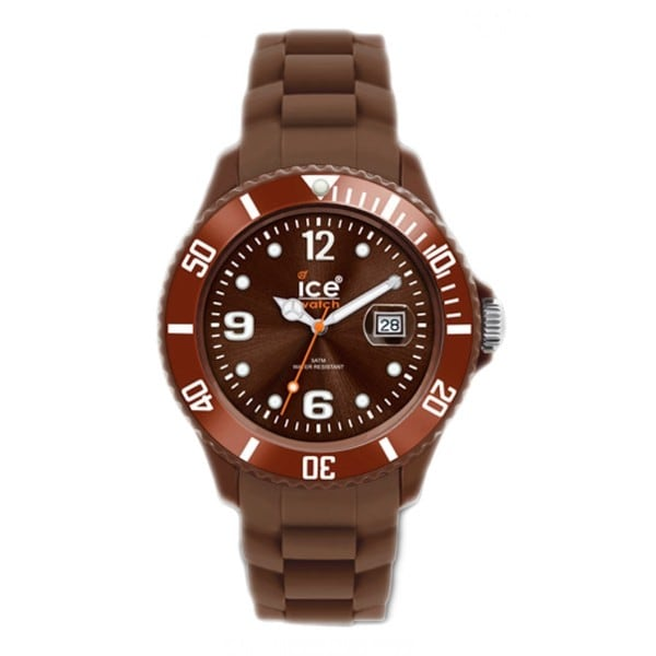 Ice Watch Unisex SIBNUS09 'Winter' Brown Silicone Watch