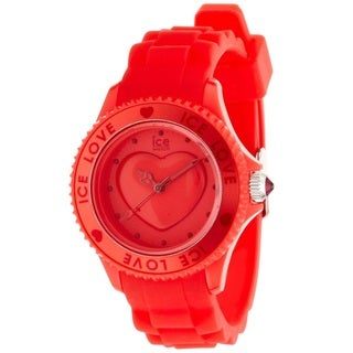 Ice Watch Unisex LORDSS10 'Love' Red Silicone Watch