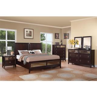 Rodeo Drive Merlot 5-piece Bedroom Set