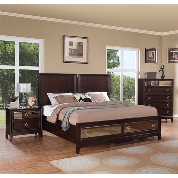 Rodeo Drive Merlot 3-piece Bedroom Set