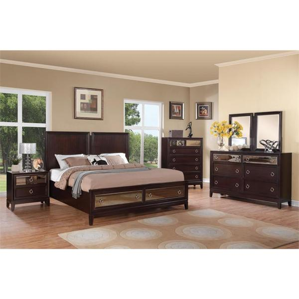 Rodeo Drive Merlot 4-piece Bedroom Set