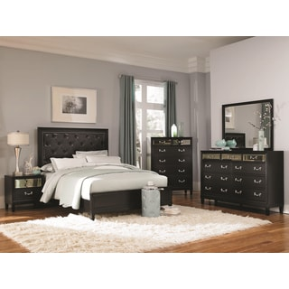 Versailles Black 4-piece Bedroom Set