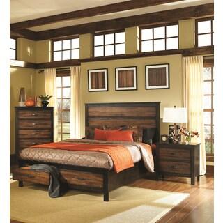 Cascade Two-tone Brown/ Black 3-piece Bedroom Set