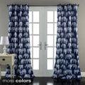 Lush Decor Elephant Parade Room Darkening 84-Inch Curtain Panel Pair