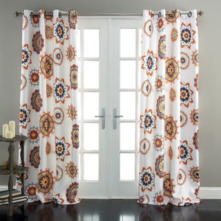 Lush Decor Adrianne Room Darkening 84-Inch Curtain Panel Pair